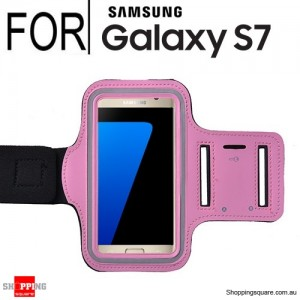 Sports Armband Case for Samsung Galaxy S7 Pink Colour