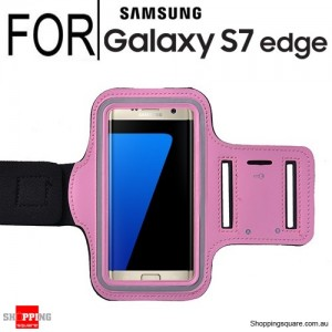 Sports Armband Case for Samsung Galaxy S7 Edge Pink Colour
