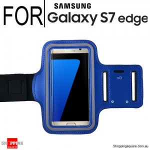 Sports Armband Case for Samsung Galaxy S7 Edge Blue Colour