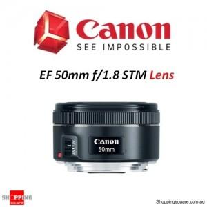 Canon EF 50mm f/1.8 STM Full-Frame Standard Camera Lens