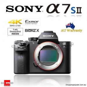 Sony Alpha A7S Mark II (ILCE-7SM2) 12.2MP Wi-Fi 4K IS Full-Frame Mirrorless Camera Body
