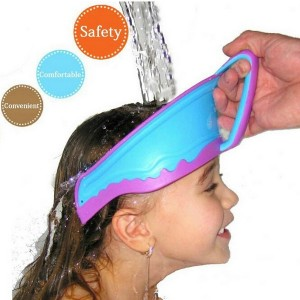 Adjustable Baby Children Rubber Cap Prevent Shampoo Cap Bathing Hair Shield