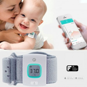 Fii iFever Infrared Bluetooth Intelligent Wearable Thermometer for Baby Supported iOS Android Apps