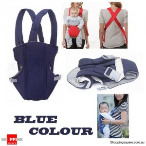 Carrier for Newborn Baby Kid Infant with Front Backpack Wrapping Sling Blue Colour