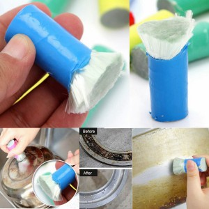 2x Magical Stainless Steel Cleaning Brush Stick for Metal Rust Removal