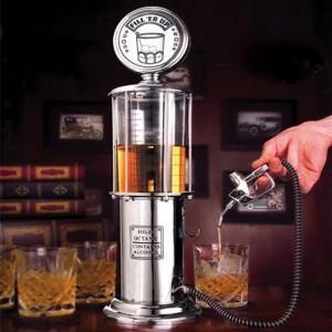 Innovative Wine Beer Cocktail Dispenser with Gas Stastion Pipe Shaped Pourer Measurer