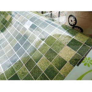 45x500cm Kitchen Home Waterproof Self Adhesive Anti Oil Mosaic Wallpaper Sticker Decoration Green Colour