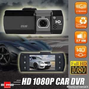 Full HD 1080P Dash Car Video Camera  Recorder DVR Black Box with G-sensor Black Colour