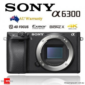 Sony Alpha A6300 ILCE-6300 DSLR 24.2MP 4K Mirrorless Camera Body Black