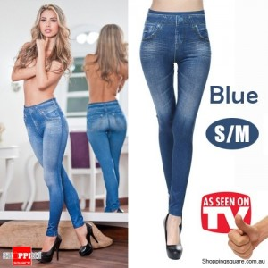 Womens Sexy Stylish slim fit Skinny Jeggings Leggings Jeans Denim Pants Blue Colour Size S/M