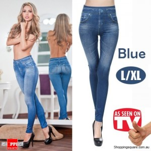 Womens Sexy Stylish slim fit Skinny Jeggings Leggings Jeans Denim Pants Blue Colour Size L/XL