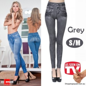 Womens Sexy Stylish slim fit Skinny Jeggings Leggings Jeans Denim Pants Grey Colour Size S/M