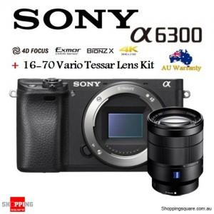 Sony Alpha A6300 ILCE-6300 & 16-70mm Lens Camera Kit Black