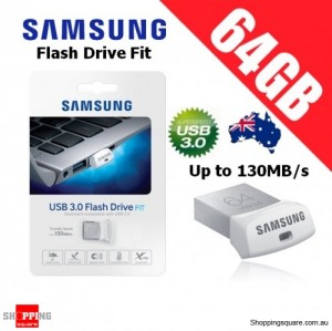 Samsung Flash Drive Fit 64GB MUF-64BB USB 3.0 Memory Stick Up to 130MB/s
