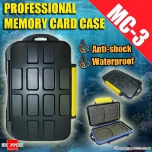 MC-3 Type Professional Anti-shock Waterproof DC Memory Card Case Holder for CF Micro SD