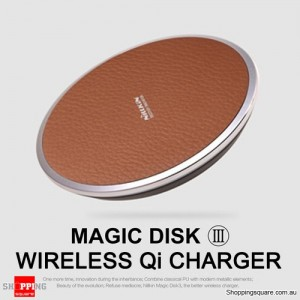 NILLKIN Magic Disk III Qi Standard Wireless Inductive Charger for Samsung Android iPhone Huawei BROWN Colour