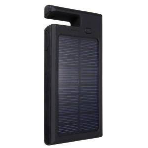 8000mAh Solar Charger Dual USB Port Power Bank for iPhone Samsung LG Black Colour