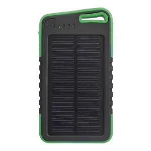 5000mAh Universal Solar Charger DC 5V/2A Power Bank Green Colour