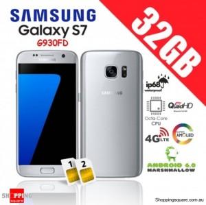Samsung Galaxy S7 Dual Sim G930FD 4G 32GB Unlocked Smartphone Silver