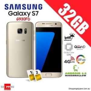 Samsung Galaxy S7 Dual Sim G930FD 4G 32GB Unlocked Smartphone Gold