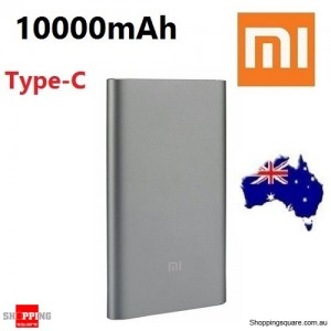 Genuine Xiaomi 10000mAh Both-way QC2.0 Quick Charge Type-C Power Bank Pro For iPhone Samsung LG Gray Colour