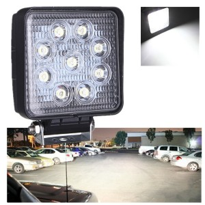 27W Square LED Light Offroad Work Light Flood Truck ATV Boat 4x4 12V
