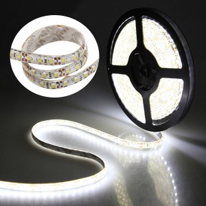 5M 12V 600LED 3528 Waterproof Flexible Strip Light Cool White For Car Decoration