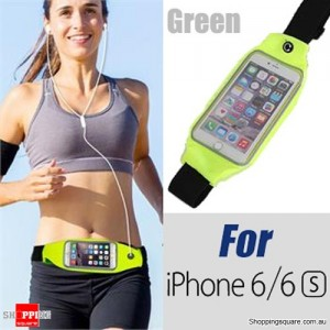 Rain Waterproof Outdoor Sports Running Fitness GYM Waist Bag with Adjustable Belt for iPhone 6 6S Green Colour