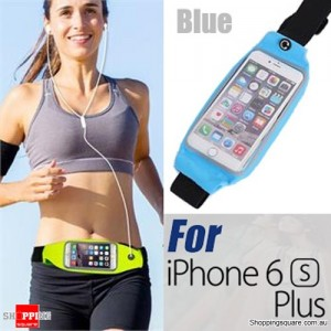 Rain Waterproof Outdoor Sports Running Fitness GYM Waist Bag with Adjustable Belt for iPhone 6 Plus/6S Plus Blue Colour
