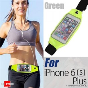 Rain Waterproof Outdoor Sports Running Fitness GYM Waist Bag with Adjustable Belt for iPhone 6 Plus/6S Plus Green Colour