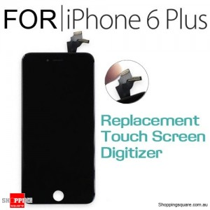 LCD Touch Screen Replacement Digitizer for iPhone 6 Plus Black Colour