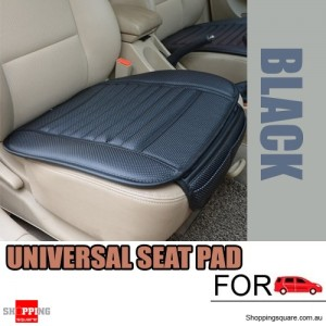 Universal PU leather seat Seatpad cover Decor for Auto Car & Office Chairs Black Colour