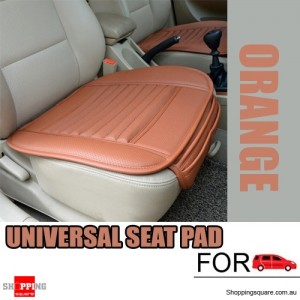 Universal PU leather seat Seatpad cover Decor for Auto Car & Office Chairs Orange Colour