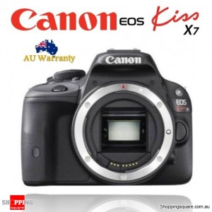 Canon EOS Kiss X7 18MP DSLR Camera Body Black