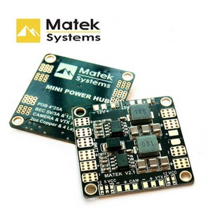 Matek Mini Power Distribution Board Power Hub With BEC 5V And 12V For FPV Quadcopter