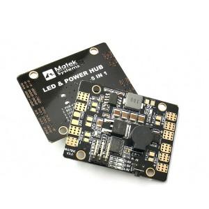 Matek 5in1 V3 LED & POWER HUB Power Supply Board + BEC 5V 12v + Tracker + Low Voltage Alarm