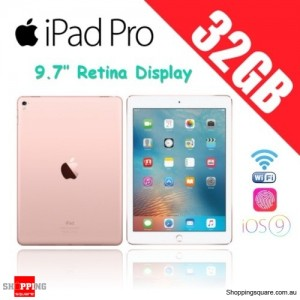 Apple iPad Pro 32GB 9.7 inches Wi-Fi Tablet Rose Gold