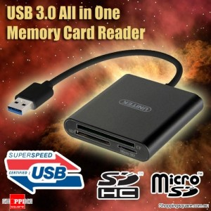 UNITEK USB 3.0 Super Speed Aluminium All In One Memory Card Reader Support CF Micro SD HC SDXC TF