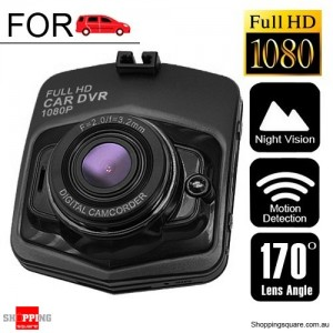 Wide Angle Full HD 1080P Dash DVR Car Video Camera Recorder Black Colour
