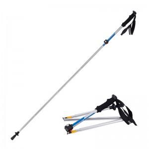 Naturehike Outdoor Walking Stick Folding Alpenstocks Ultralight Blue Colour