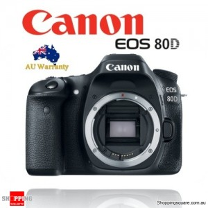 Canon EOS 80D 24.2MP WiFi NFC Full HD DSLR Camera Body