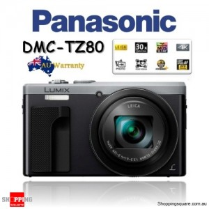 Panasonic Lumix TZ80 DMC-TZ80 18.1MP 4K 30x Zoom Digital Camera Silver