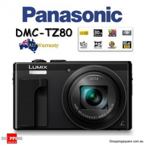 Panasonic Lumix TZ80 DMC-TZ80 18.1MP 4K 30x Zoom Digital Camera Black