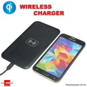QI Wireless Charger Charging Pad for iPhone Samsung Black Colour
