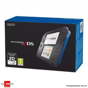 Nintendo 2DS Console (Black Blue) - AU Stock and Warranty