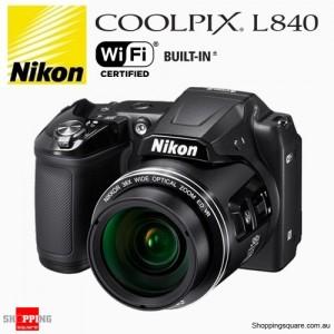 NIKON Coolpix L840 16MP Digital Camera 38x Optical Zoom