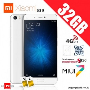 Xiaomi Mi5 Dual SIM 4G 32GB Standard Edition Unlocked Smart Phone White