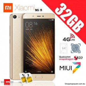 Xiaomi Mi5 Dual SIM 4G 32GB Standard Edition Unlocked Smart Phone Gold