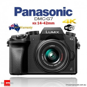 Panasonic Lumix DMC-G7 with 14-42mm G Vario Lens DSLR Camera Kit Black
