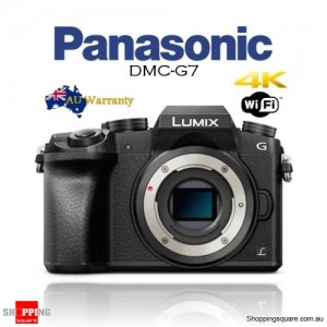 Panasonic Lumix DMC-G7 16MP Wi-Fi 4K DSLR Camera Body Black